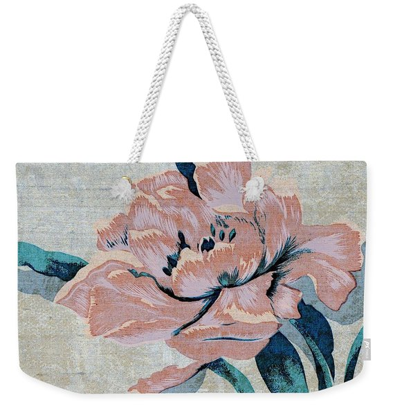 Weekender Tote Bag featuring the mixed media Textured Floral No.2 by Writermore Arts