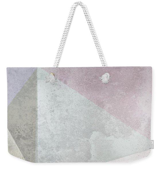 Textured Geometric Triangles Weekender Tote Bag