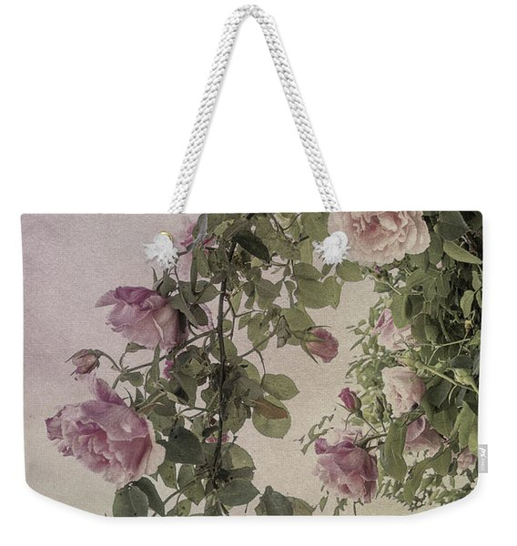 Textured Roses Weekender Tote Bag