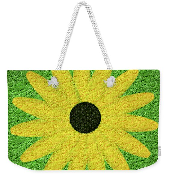 Textured Yellow Daisy Weekender Tote Bag