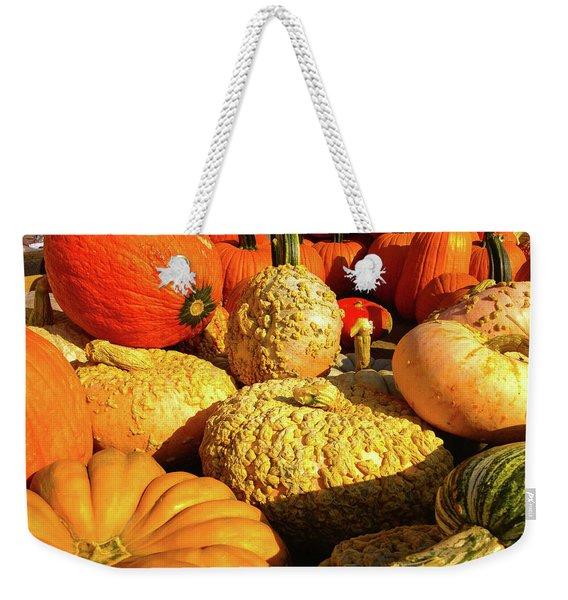 Textures Of Fall Weekender Tote Bag