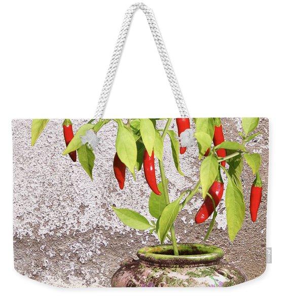 Thai Chili Plant In Pot Weekender Tote Bag