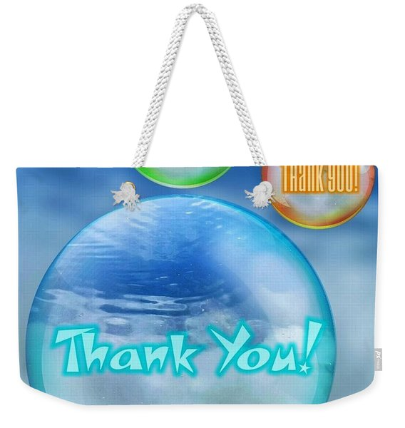 Thank You Bubbles Weekender Tote Bag