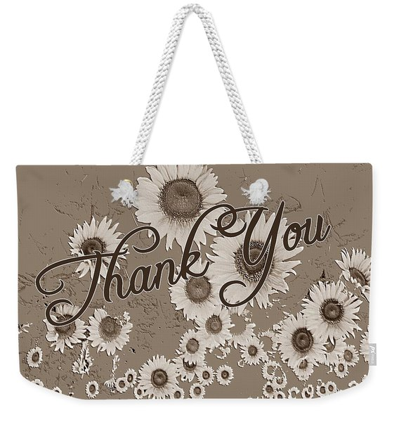 Weekender Tote Bag featuring the digital art Thank You Card Daisies by Deleas Kilgore