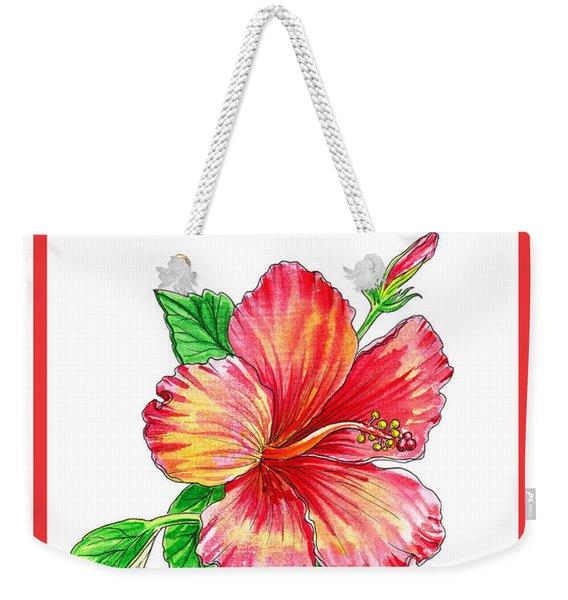 Thank You Hibiscus  Weekender Tote Bag
