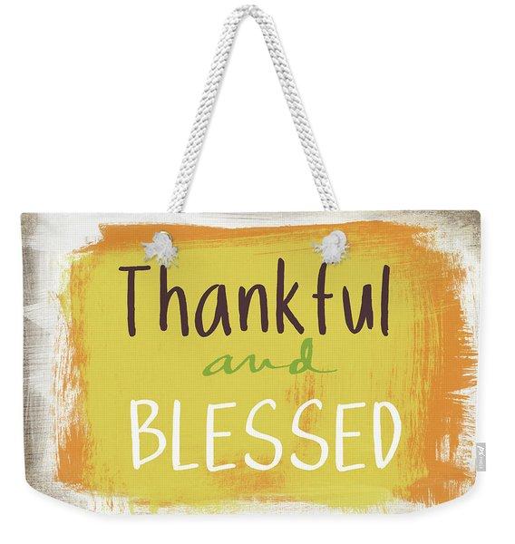 Thankful And Blessed- Art By Linda Woods Weekender Tote Bag