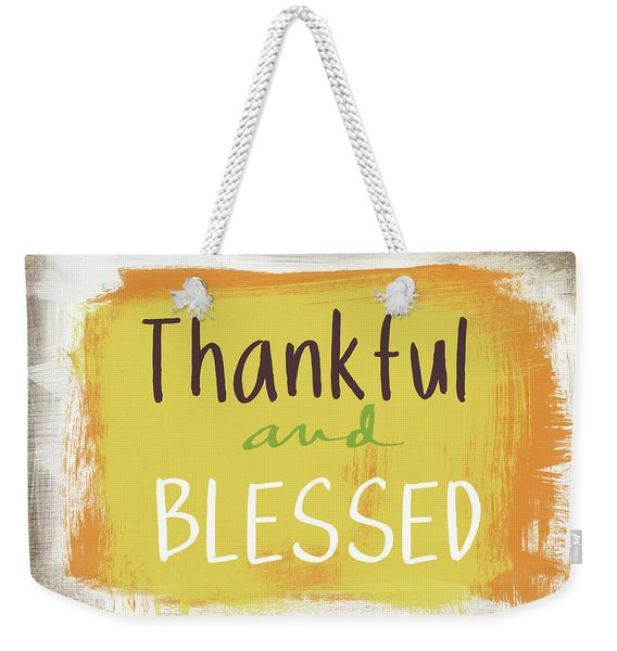 Thankful And Blessed- Art By Linda Woods Weekender Tote Bag