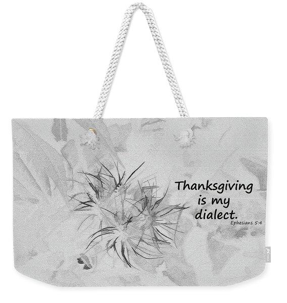 Thanks Giving Weekender Tote Bag