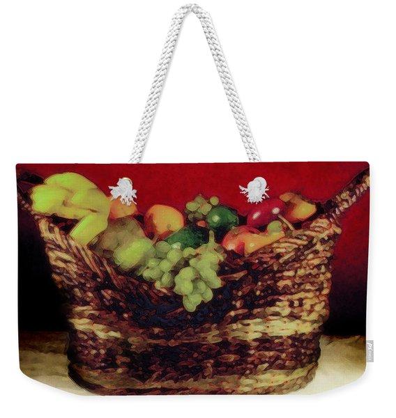 That Basket Of Fruits Painting Weekender Tote Bag