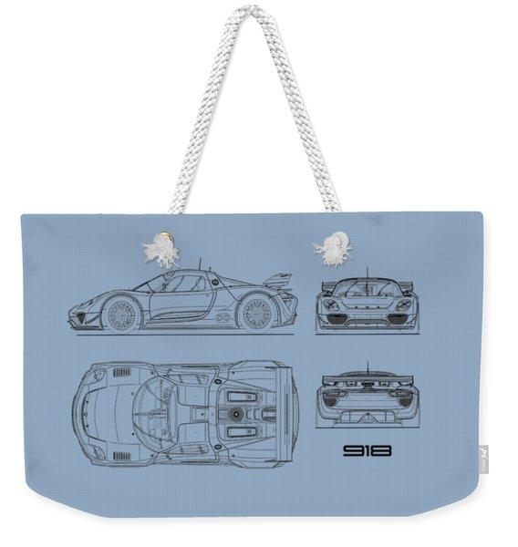 The 918 Spyder Blueprint Weekender Tote Bag
