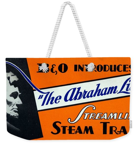 The Abraham Lincoln Weekender Tote Bag
