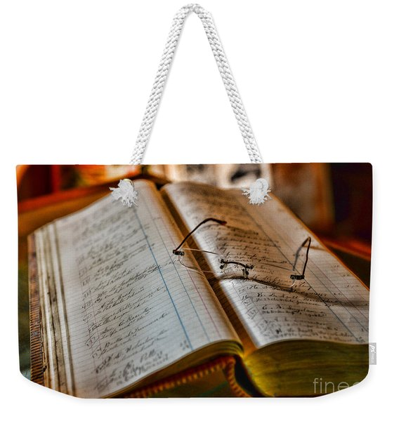 The Accountant's Ledger Weekender Tote Bag