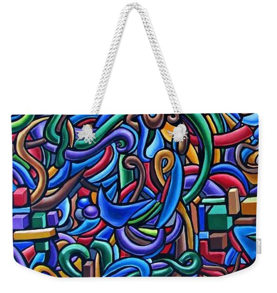 Colorful Abstract Art Abstract Painting Colorful Chromatic Acrylic Painting Weekender Tote Bag