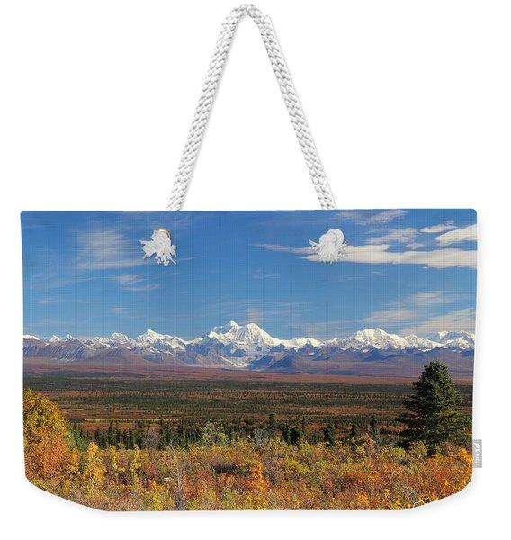 The Alaska Range From The Denali Highway Weekender Tote Bag