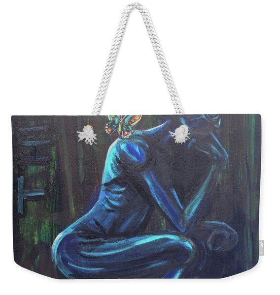 The Alien Thinker Weekender Tote Bag