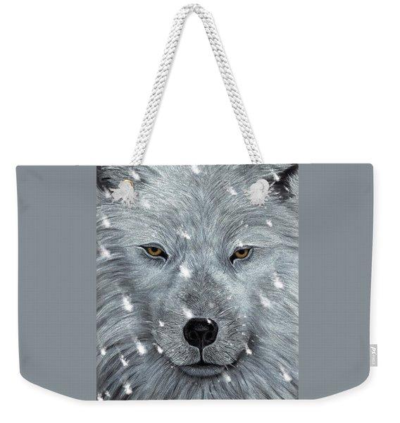 The Amber Eyed Wolf Weekender Tote Bag