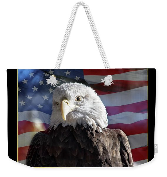 The American Bald Eagle Weekender Tote Bag