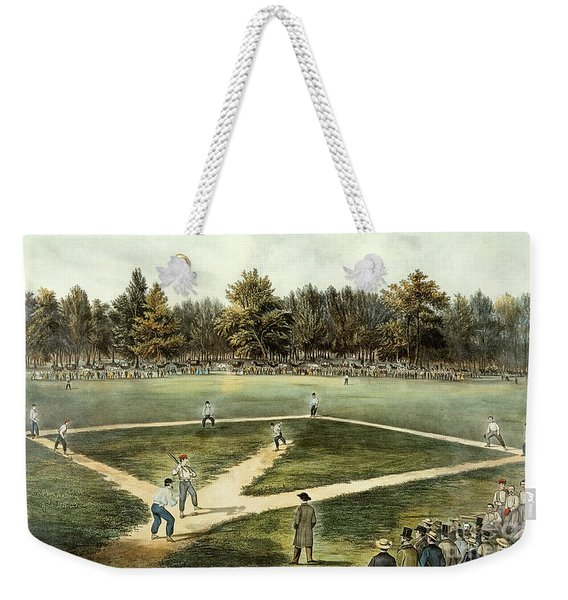The American National Game Of Baseball Grand Match At Elysian Fields Weekender Tote Bag