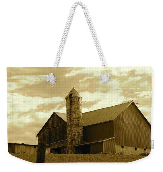 The Amish Silo Barn Weekender Tote Bag