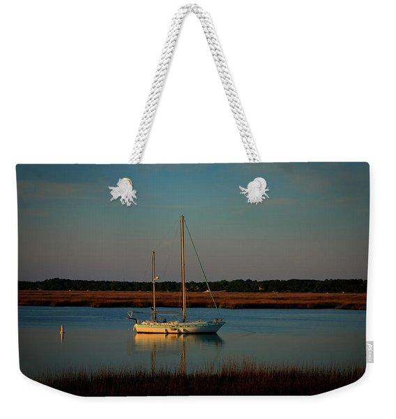 The Anchor Holds 2 Beaufort South Carolina Sailboat Art  Weekender Tote Bag