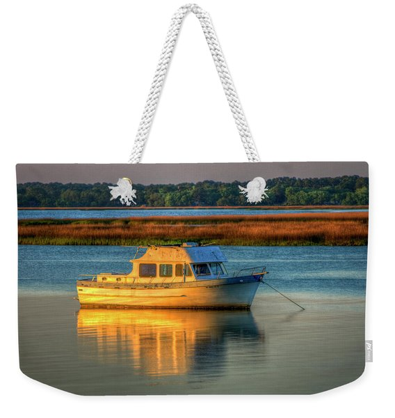 The Anchor Holds Beaufort South Carolina Boat Art Weekender Tote Bag