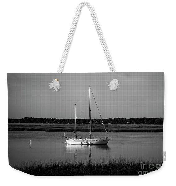 The Anchor Still Holds Beaufort South Carolina Sailboat Art  Weekender Tote Bag