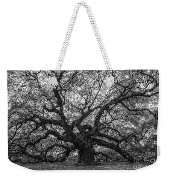 The Angel Oak Tree Bw  Weekender Tote Bag