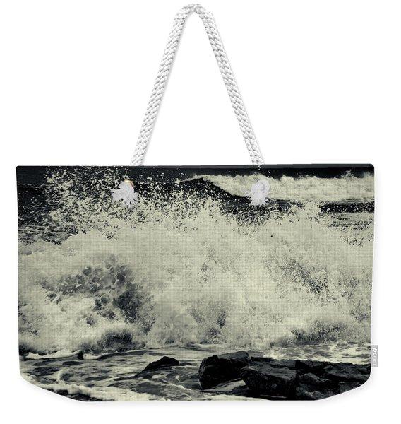 The Angry Sea Weekender Tote Bag