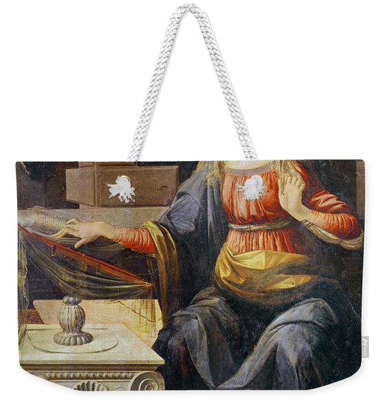 The Annunciation   Detail Of The Virgin Weekender Tote Bag