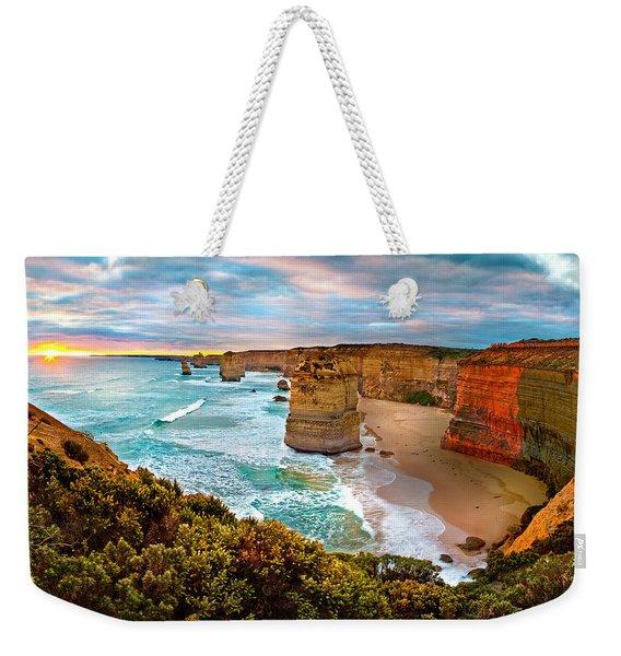 The Apostles Sunset Weekender Tote Bag