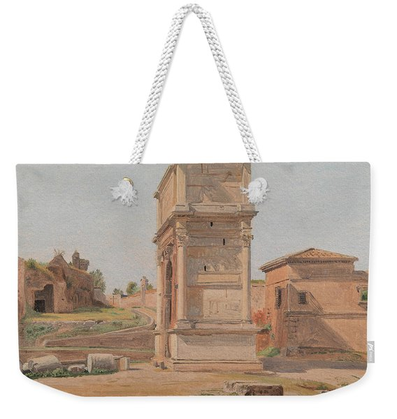 The Arch Of Titus In Rome, 1839 Weekender Tote Bag