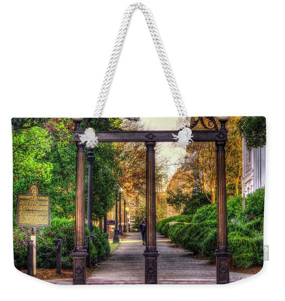 The Arch University Of Georgia Arch Art Weekender Tote Bag