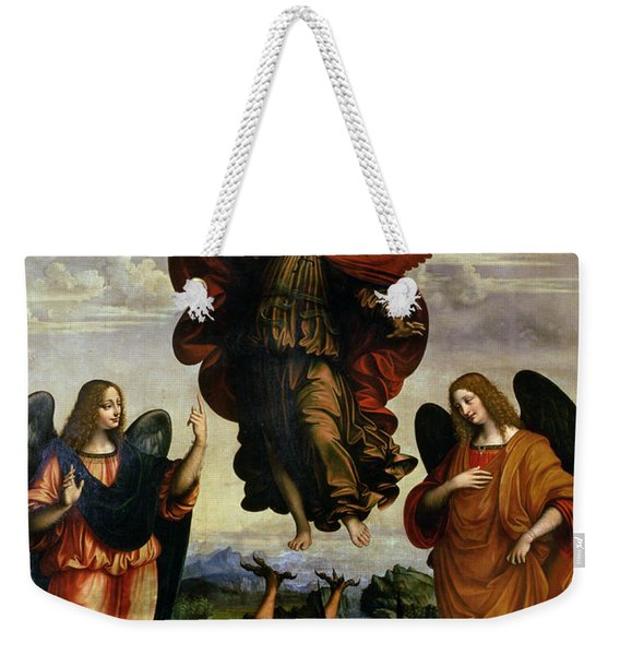The Archangels Triumphing Over Lucifer Weekender Tote Bag