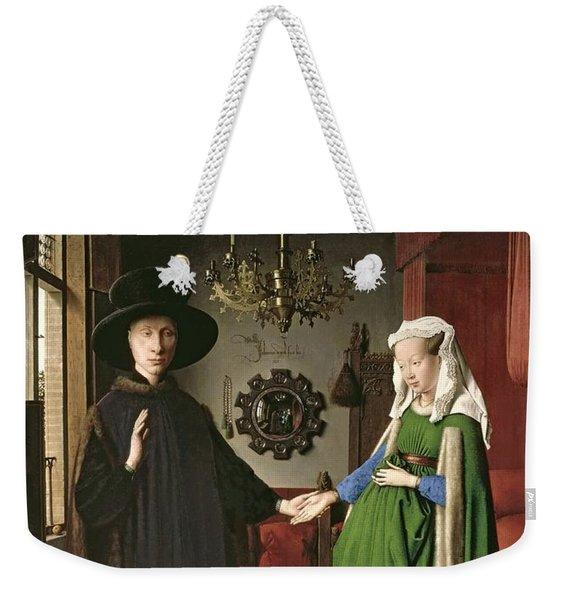 The Arnolfini Marriage Weekender Tote Bag