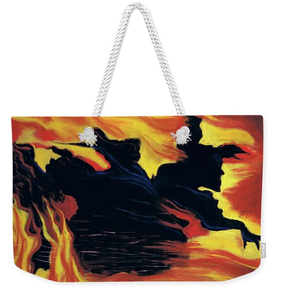 The Arrival Of The Wicked Weekender Tote Bag
