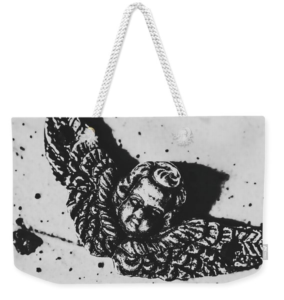 The Art Of A Vintage Angel Weekender Tote Bag