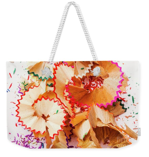 The Art Of Pencil Shavings Weekender Tote Bag