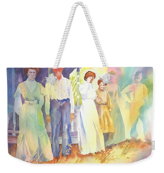 The Aunts Come Calling Weekender Tote Bag