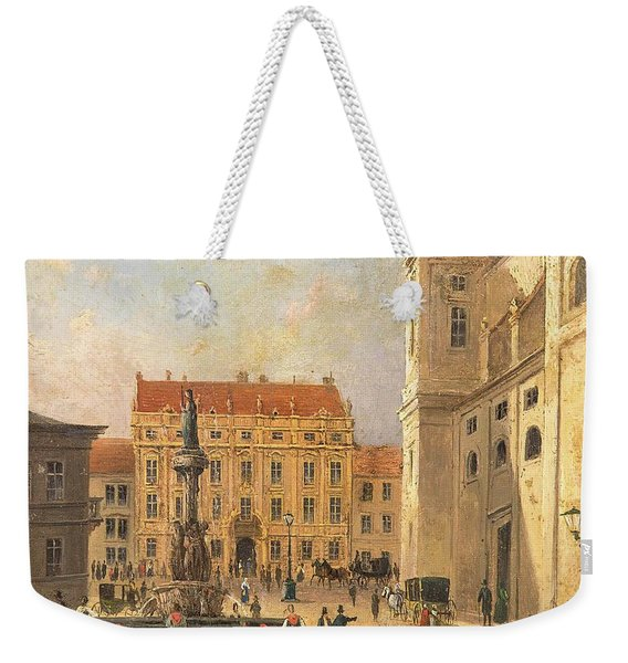 The Austria Fountain On The Freyung In Vienna With Rich Figural Weekender Tote Bag