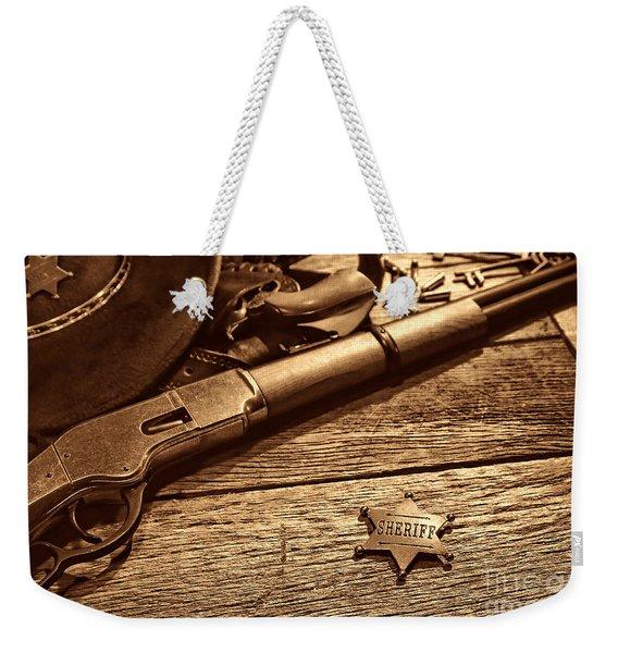 The Badge Weekender Tote Bag