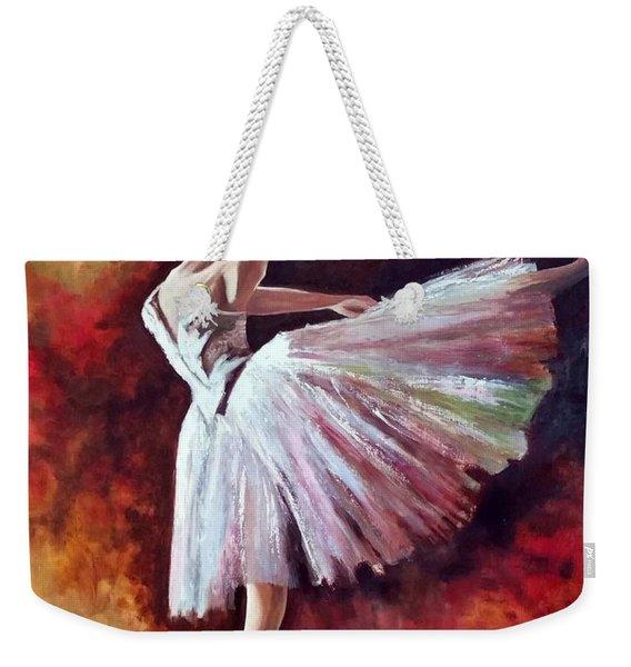 The Dancer Tilting - Adaptation Of Degas Artwork Weekender Tote Bag