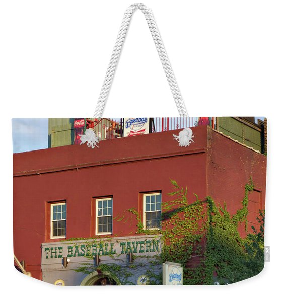 Weekender Tote Bag featuring the photograph The Baseball Tavern Boston Massachusetts  -30948 by John Bald