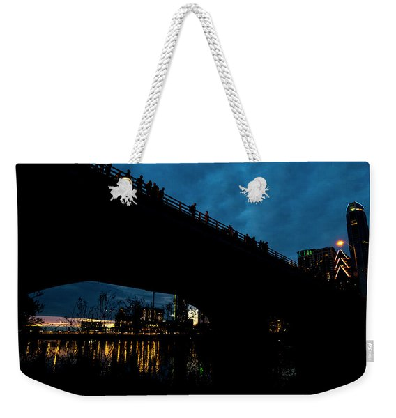 The Bat Bridge Austin Texas Weekender Tote Bag
