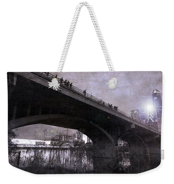 The Bat Bridge Night Austin Texas Weekender Tote Bag