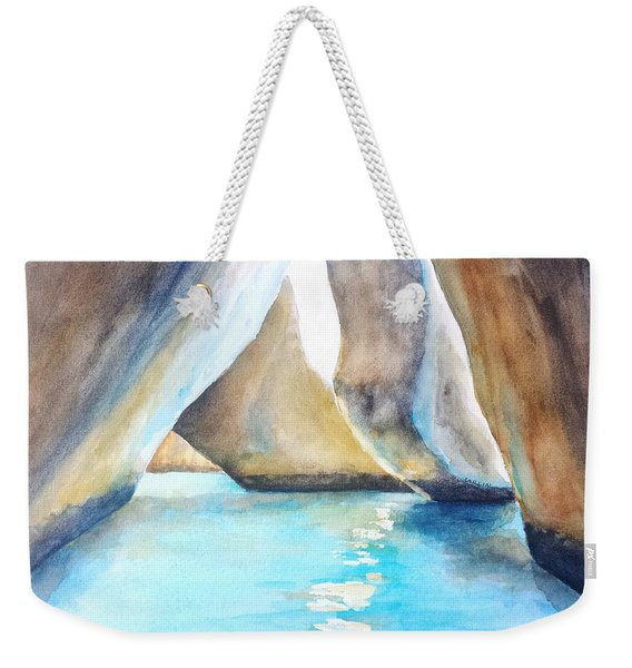 The Baths Water Cave Path Weekender Tote Bag