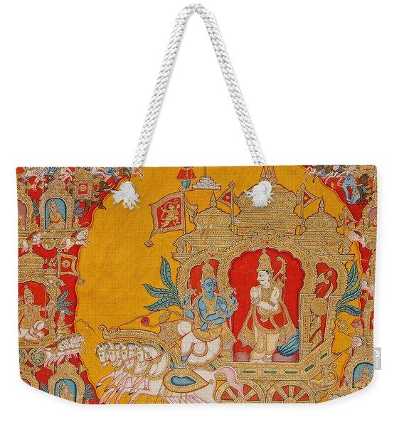 The Battle Of Kurukshetra Weekender Tote Bag