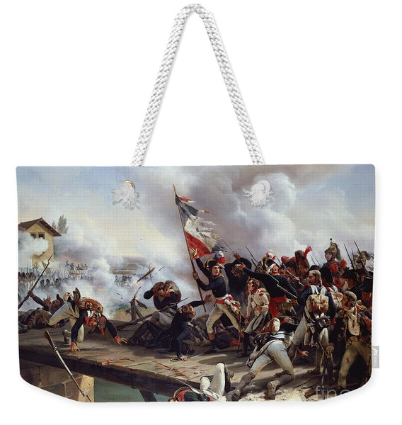 The Battle Of Pont D'arcole Weekender Tote Bag