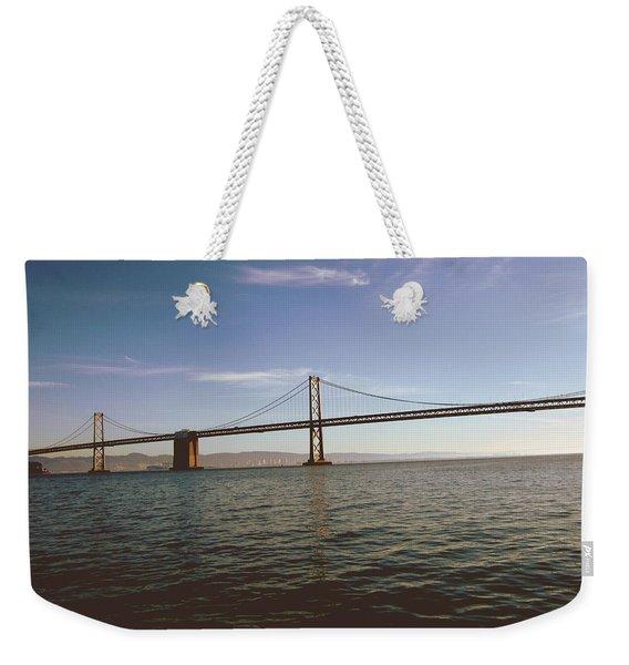 The Bay Bridge- By Linda Woods Weekender Tote Bag