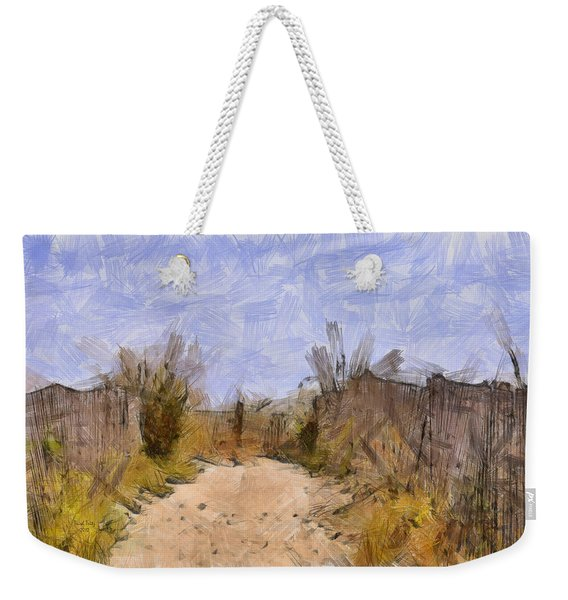 The Beach Awaits Weekender Tote Bag