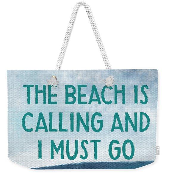 The Beach Is Calling 2- Art By Linda Woods Weekender Tote Bag